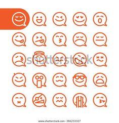Emoticon, Emoji, Wedding Brochure, Line Icon, Brochure Template, Icon Set, Design Elements, Bubbles, Templates