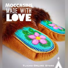 #Tlicho #Summer #Moccasins available -> http://onlinestore.tlicho.ca