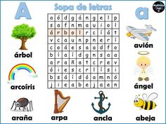 DESCARGA LA SOPA EN PDF Sopa de letras del abecedario Relacionado