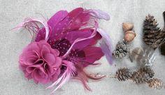 Vintage Pink, Fascinator, Mauve, Copper Blush, Magenta, Purple, Chiffon Flowers, Wedding Bridesmaids, Etsy Shop