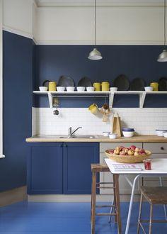 Farrow Ball, Farrow And Ball Paint, Best Paint For Kitchen, Kitchen Paint, Kitchen Decor, Kitchen Colour Schemes, Kitchen Colors, Grey Kitchen Inspiration, Kitchen Designs