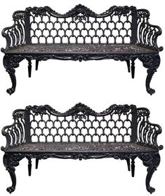 BARBARA EBERLEIN'S PICK - Pair of 19th century Scottish cast iron garden benches - $10800.