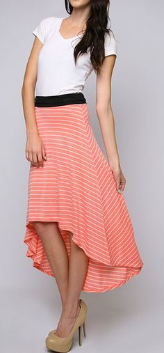 Coral hi-lo skirt LOVE SOOOOOOOOOOOO MUCH!!!