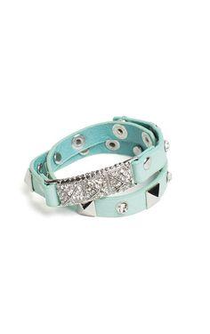 Mint Blue Pave Bracelet <3