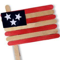 Popsicle Stick American Flag | AllFreeKidsCrafts.com