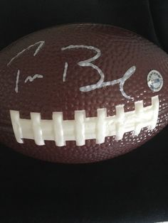 Tom Brady Autograph Signed Souvenir Football England Patriots Star Silver Ink | eBay