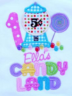 Candy Land First Birthday Personalized by TheStripedSwallow, $30.00