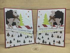 Christmas Cheer | Stampin\' Up! | Seasonal Lantern #literallymyjoy #reindeer #evergreen #Christmas #trees #holiday #LemonLimeTwist #BeMerryDSP #MerryLittleChristmasDSP #WoodTexturesDSP #2017HolidayCatalog #20172018AnnualCatalog