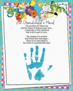 poems for grandparents Grandparents Day Crafts, Fathers Day Crafts, Grandparent Gifts, Footprint Crafts, Fingerprint Crafts, Creative Activities For Kids, Fish Crafts, Infant Activities, Childhood Education