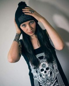 """Murderous"" Beanie & ""Kultus Xronos"" Tanktop  Available at www.crmc-clothing.co.uk | WE SHIP WORLDWIDE  Model - @darina.dee #beautiful #stunning #cute #fashionista #fashionstatement #fashionofinstagram #alternativeteen #instalove #fashion #alternativechick #alternativegirl #skaterchick #lit #blackandwhite #fashiongram #instafashion #fashionaddict #stylegram #instagrunge #fashionoftheday #dailyfashion #czechmodel #czechgirl #czechrepublic #czechgirls #igers #instadaily #instagood #love"