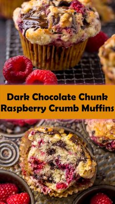 Strawberry Muffins Healthy, Healthy Cupcake Recipes, Raspberry Muffins, Healthy Breakfast Muffins, Raspberry Recipes, Baking Recipes, Healthy Fruit Desserts, Breakfast Dessert, Bread Recipes