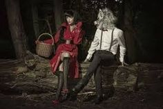 Image result for modern red riding hood and wolf adult