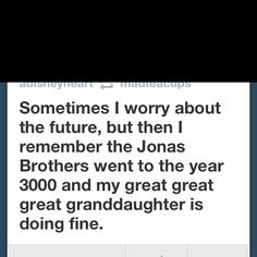 """No worries about the future! Granted, I pray my spawn is well past three """"Greats"""" by the year 3000. @Lauren Shepard"""