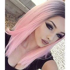Appearanz® hitzebeständiges Perücke Lace Front gerade Kunsthaar, Ombré Medium Haar Länge Frisur Perücke …