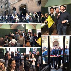 Todi, 9 aprile 2017. Inaugurazione della sede elettorale (Via Ciuffelli, 11) di Floriano Pizzichini Sindaco di Todi. Molte persone ed entusiasmo (presente Claudio Ricci).
