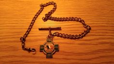 Vintage watch chain with Irish Memorial Medallion (One of a kind?) | eBay