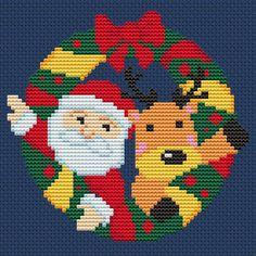 Christmas wreath cross stitch pattern pdf Merry christmas