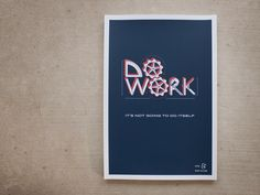 Do Work – Poster   hand lettering by seanwes