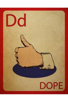 Dope Flashcard Poster