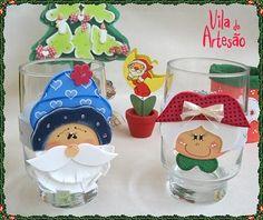 Marcador de copo divertido para cada convidado, é a dica de EVA para decorar a sua mesa e colocar uma pitada de humor no seu Natal.  #craft #christmas #diy
