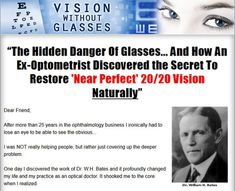 Vision Without Glasses: How To Achieve Near Perfect 20/20 Vision Completely Naturally, No Matter How Young Or Old You Are  This site is a leading resource for information about the Duke Peterson Vision Without Glasses PDF book that teaches you simple and highly effective eye exercises to improve vision and other techniques to get better eyesight without glasses or contact lenses.   Includes a collection of Duke Peterson Vision Without Glasses reviews, PDF ebook download information, and…