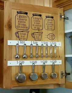 Command Hooks Kitchen Measurement Cabinet Wall Decal Stickers Images Tool Handy 3M Command hooks included for measuring utensils to hang on