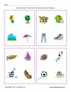 FREE worksheets, create your own worksheets, games. Speech Language Therapy, Speech Therapy Activities, Speech And Language, Preschool Learning Activities, Kindergarten Worksheets, Kids Learning, Lkg Worksheets, Free Worksheets, Picture Comprehension