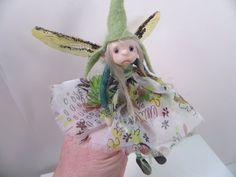 ooak sweet little pixie fairy by DinkyDarlings - polymer clay poseable faery art doll