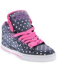 Osiris Denim White Dot NYC83 Vulc Womens Hi Top Shoe