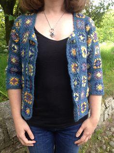 Granny square jacket crochet pattern