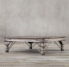 I know we are not doing living room right now, but this is a great table. 19th C. Kerala Coffee Table