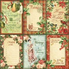 """The front page of """"Holly and Ivy"""" from our new collection, The Twelve Days of Christmas! #graphic45 #christmas #sneakpeeks"""