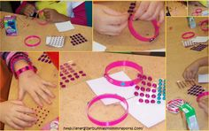 Craft/ party favor idea. Have the girls make their own Fancy bracelets.