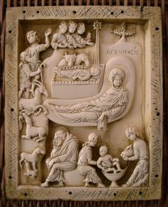 https://flic.kr/p/61wX31 | Nativity (relief icon) | Byzantine, 10th or 11th century, now in the collection of the Vatican Museums. This example is a reproduction made from a mold of the original by the Metropolitan Museum of Art in New York.