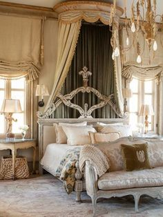 ديكورات غرف نوم: ديكور غرفة نوم رئيسية طراز البحر الأبيض المتوسط في...