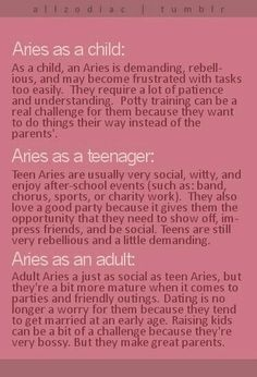 Aries as they age