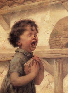 Virgilio #Tojetti La picadura de abeja,1898