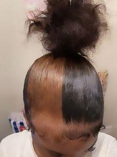 Hair Ponytail Styles, Curly Hair Styles, Natural Hair Styles, Black Girl Braided Hairstyles, Pretty Hairstyles, Hairstyle Ideas, Dyed Natural Hair, Hair Laid, Baddie Hairstyles