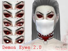 The Sims Resource: Demon Eyes 2.0 - N41 by Praline Sims • Sims 4 Downloads