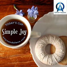 ☕Today's Cup: Simple Joy  A cup of coffee with cookies can bring so much joy.  | Onyx and Alexa Instagram @onyxandalexa