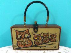 Vintage 1960's Enid Collins Owl Box Purse Owl Wise Guys A Original   eBay