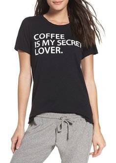 secret lover lounge tee by Chaser. The secret is out-you love coffee and you don't care who knows it. This ultrasoft cotton-blend tee is perfect for thr...