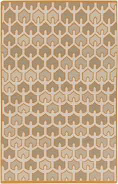 Surya AMD1077 Alameda Orange Rectangle Area Rug