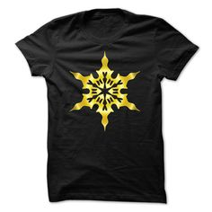 Gold Snowflake T-Shirt and Matching Hoodie