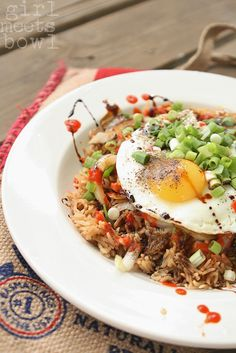 Egg Rice with Caramelized Onion and Pepper