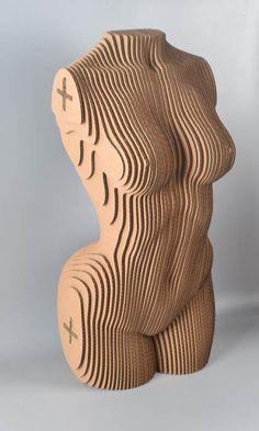 woman torso DIY cardboard KIT par boardattack sur Etsy