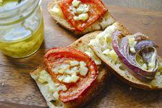 Garlic and Lemon bruschetta