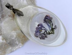Lilac pendant Real flower jewelry Unique by CreationsOfTrueFairy