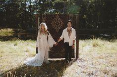 Lace Wedding Dress + Persian Rug Backdrop