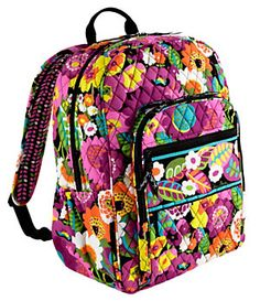 Vera Bradley Campus Backpack OMG! I want this as my school backpack!!